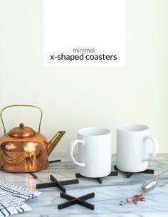 DIY Minimal X-Shaped Coasters