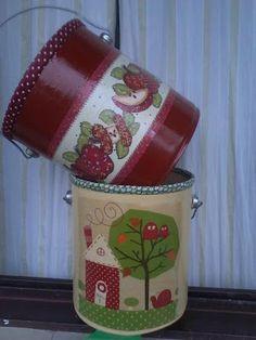 Lindas latas recicladas da Léia