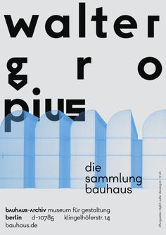 The Bauhaus-Archiv Museum in Berlin just had a new corporate identity, created by the Stuttgart-based design agency New website, new typeface, new logo – and this absolute wonderful quartet o… Walter Gropius, Corporate Design, Shenzhen, Gropius Bau, Bauhaus Architecture, Berlin Museum, Museum Poster, Bauhaus Design, Bauhaus Art