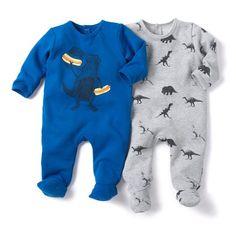 image Pyjama met voetjes in molton (set van 2) R baby, 32,98 euro