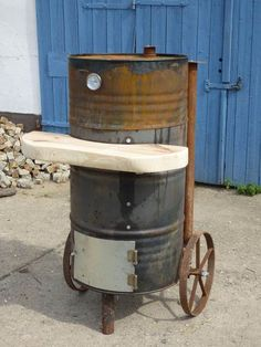 homemade vertical smoker me pinterest homemade smoker grilling and bbq. Black Bedroom Furniture Sets. Home Design Ideas
