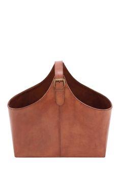 Wood U0026 Genuine Leather Magazine Holder On @HauteLook
