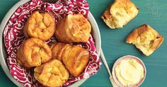 Crisp-crusted popovers with a soft interior and sourdough tang.