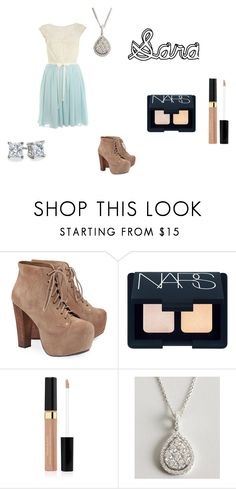 """Sara"" by terikitty ❤ liked on Polyvore featuring Jeffrey Campbell, NARS Cosmetics, Elizabeth Arden, Armadani and Blue Nile"