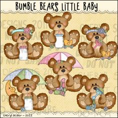 Bumble Bears Little Baby 1 - Clip Art by Cheryl Seslar