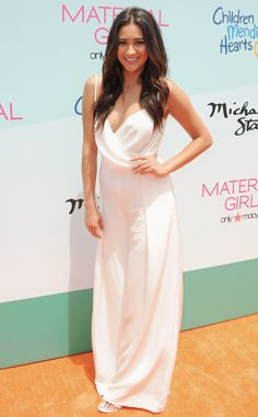 Shay Mitchell from The Best of the Red Carpet  Step aside boho beauties; Shay's Vatanika white jumpsuit just took bohemian style to the next level.