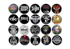 20 X Death Metal band badges/buttons!  #obituarydeathmetal #morbidangel #deathbandpatch #deicide #deathmetalpatch #cannibalcorpse #nile #atheist #boltthrower #entombed #pestilence #carcass #possessed #suffocation #sixfeetunder #deathmetaltshirt #deathmetalhat #deathmetalbadges #deathmetalbuttons #heavymetalpatch #heavymetalonesie
