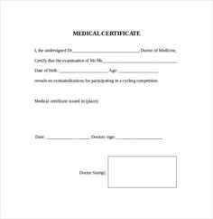 Best Medical Certificate Doctors Note Template Notes Report Templates