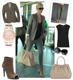Photos of Charlize Theron Wearing J Brand Cargos, Bottega Veneta Booties at London Airport Charlize Theron Style, Movie Date Outfits, Travel Wardrobe, Travel Outfits, Star Fashion, Steampunk Fashion, Gothic Fashion, Fall Fashion, Fashion Ideas