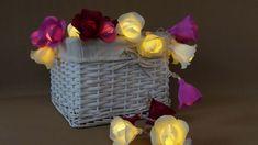 HANDMADE Roses String lights, Lights garland, Flower lights garland, Wedding lights, Fairy lights, Bedroom lights, Magnolia decor, Roses.