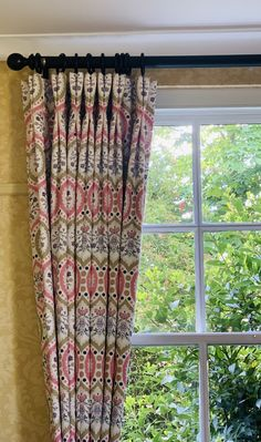 Pretty double pleated curtains in camilla FP collection complimented with a cameron fuller pole in black. Soft Furnishings, Interior, Custom Design, Redecorating, Holiday Lettings, Curtains, Interior Designers, Pleated Curtains, Furnishings