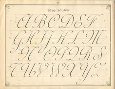 French penmanship