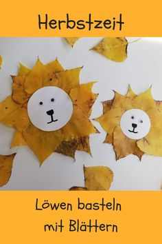 Herbstbasteln Löwen We made lions with great autumn leaves. Autumn time with children is handicraft time. Halloween Crafts For Toddlers, Fall Crafts For Kids, Toddler Crafts, Halloween Kids, Diy For Kids, Kids Crafts, Halloween Halloween, Handmade Christmas Decorations, Christmas Crafts For Kids