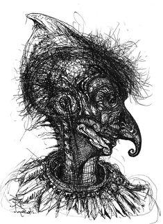 African, Surrealist, Surreal Art, Surrealism, Art, Humanoid Sketch