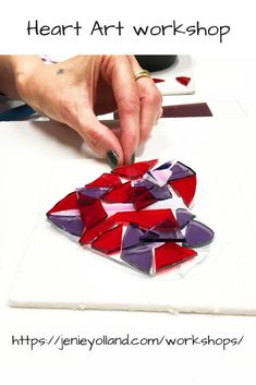 Yes she loves her heart.  It'll look fabulous in her home decor, its the same colour as this heart.  You too can come to our studios in Richmond in Melbourne and create a framed heart in art glass.  You can create it in the colour combination of your choosing.  It's a fun fast and enjoyable workshop.  It lasts 90 minutes.  Come with a friend or two friends - you'll create new memories with them.  This is really the best catch-up time you can have!  See you soon.