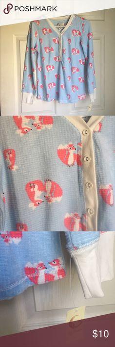 Fox Pajama Shirt Thermal pajama shirt. Brand new. Tops Tees - Long Sleeve