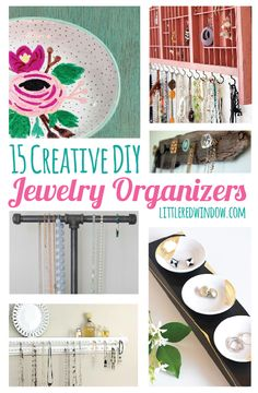 15 Creative DIY Jewelry Organizers Tutorials with instructions