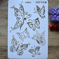 Butterfly Template Stencils DIY Scrapbooking STAMPS Album Craft Painting Tool for sale online Diy Crafts Butterfly, Butterfly Stencil, Butterfly Template, Painting Templates, Drawing Templates, Stencil Templates, Stencils, Stencil Painting, Stencil Patterns