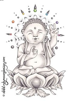 Buddha Tattoos, Designs And Ideas : Page 3 Buddha Tattoo Design, Buddha Tattoos, Buddha Kunst, Buddha Art, Baby Buddha, Little Buddha, Laughing Buddha Tattoo, Drawing Sketches, Art Drawings