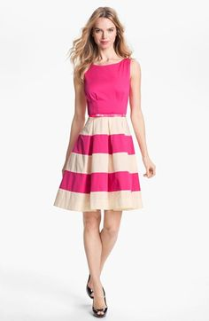 On sale!  kate spade new york celina stretch cotton fit & flare dress | Nordstrom