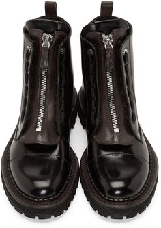 Fendi Black Leather Selleria Boots