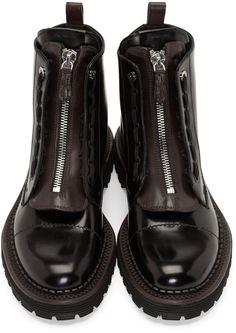 Fendi Black Leather Selleria Boots