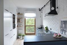 Białe cegły w aranżacji kuchni - Lovingit.pl