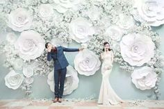 Foam Flower Backdrop White bunch for Wedding home decor