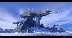 Mountain base by Javoraj on DeviantArt #spaceship – https://www.pinterest.com/pin/541206080208287922/