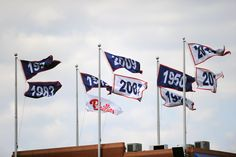 Some League and Divisional Champion pennants