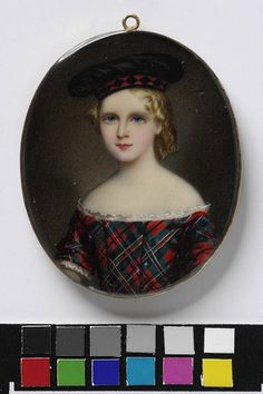 An Unknown child, called Charles Lawton; Portrait of a child in Scottish costume   1856     V Museum