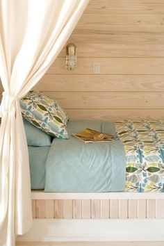 Sleeping Porch design--good idea! put curtains around bed