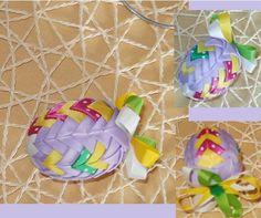 Ve+fialové+Patchworkové+vajíčko