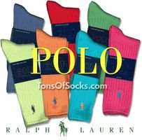 Men's POLO Ralph Lauren Bright Colorful Cotton  Crews i want all of these cool socks boii!
