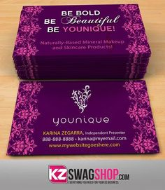 Younique Business Cards Style 6 Stores Visit Carte