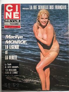 Marilyn Monroe Misfits Bikini Cover CINE Revue 21 December 1972 French Magazine | eBay