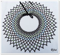 Rita Pearls: Sarkozi lace gyöngygallér  Wow, loving this netting