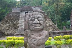 A Statue at Sukuh Temple, Indonesia