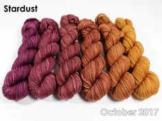 The highest quality hand-dyed, just for you. Crochet Yarn, Knitting Yarn, Hand Dyed Yarn, Gradient Color, Yarns, Color Combos, Fiber, October, Crafty
