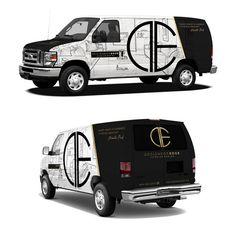 Van Signage, Logo Design Tutorial, Van Wrap, Van Design, Vans Logo, Cool Vans, Cargo Van, Transporter, Best Logo Design