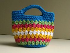 Crochet Bag Awesome Cluster Stitch Bag Crochet Video Tutorial the Of Innovative 49 Models Crochet Bag Crochet Bag ~ Find Out Very solutions About Innovative 49 Models Crochet Bag Pertaining to Distinctive Easy Peasy Little Kidz Bag Crochet Pattern N Bag Crochet, Crochet Handbags, Crochet Purses, Crochet Crafts, Free Crochet, Learn Crochet, Simple Crochet, Double Crochet, Purse Patterns