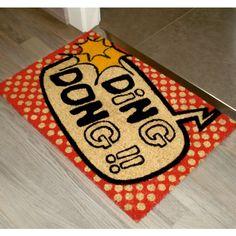 FELPUDO DING DONG - kookshop#doormat #felpudo #entrada #puerta #recibidor #dingdong Ding Dong, Bath Mat, Base, Home Decor, Products, Sun, Coir, Envy, Entrance Gates