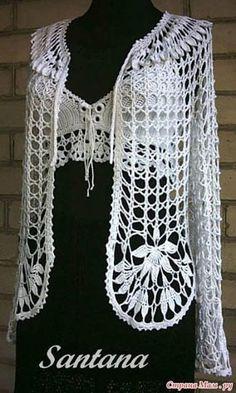 Patrón #787: Chaqueta Calada a Crochet #ctejidas http://blgs.co/2AvN3Z
