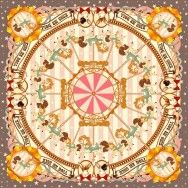Kiss Me Doll Scarf - Merry Go Round (ฺBrown)