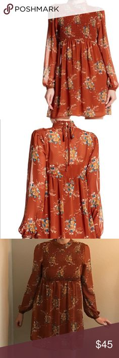 As You Wish Long Sleeved Smocked Dress New dress, size small. Perfect for Autumn 🍂 As U Wish Dresses