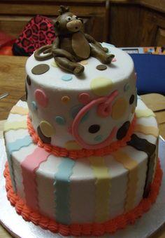 Baby Shower Monkey Themed baby Shower Cake