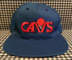 Vintage Cleveland Cavaliers SnapBack Hat  Drew Pearson Companies Blue VTG NBA…