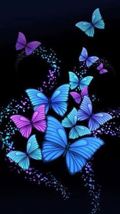 Wallpaper Mania Wallpaper: Butterfly Wallpaper - All About Butterfly Artwork, Butterfly Wallpaper Iphone, Butterfly Background, Butterfly Pictures, Purple Butterfly, Butterfly Flowers, Cellphone Wallpaper, Beautiful Butterflies, Wallpaper Backgrounds