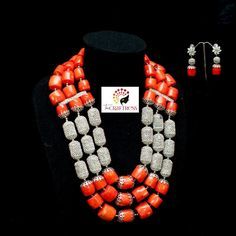Meet 'Ometere'.... She's all about #elegance and #confidence.... she knows what she's all about. Buzz if you want her.  #TheCraftress #TheCraftressOnTheStrings #HandCraftedWithLove #Beads #Coral #CoralBeads #Jewelry #JewelryDesigner #NigerianJewelry #Style #Silver #bellanaijaweddings #Royalty #Royals #StatementNecklace #Dainty #Bride #NigerianBride #WeddingGuest #Bespoke #HandCrafted #HandMade #SpecialOccasions #TraditionalWedding #Gift