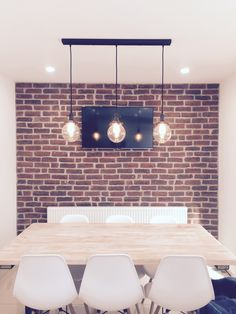 The popular Chicago Rojo brick slips are a red and smoke effect brick cladding which can be used internally or externally. Furniture, House, Home, Brick, Dining Room Furniture, Wall Cladding, Feature Wall, Home Decor, Room